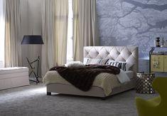 Double bed with tufted headboard Basis 18 + OPAL PLUS - Schramm Werkstätten Diy Headboards, Le Havre, Double Beds, Contemporary Bedroom, Furniture Decor, Opal, Sleep, The Originals, Handmade