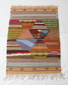 Area Rug Kilim Rug Moroccan Rug Wall Tapestry Small by Zanafi