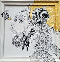 Camilla d'Errico   Buttercup We should totally paint on a frame like this! XD would be so cool!