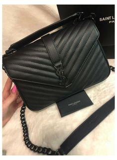 Ysl Crossbody Bag, Ysl Purse, Ysl Bag, Ysl Black Bag, Chanel Wallet, Ysl College Bag Medium, College Bags, Ysl Handbags, Purses And Handbags