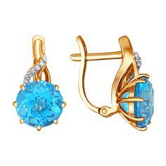 El precio es más bajo que el de los competidores, el diseño europeo y la calidad, la garantía, comprar en la joyería JD, Pendientes de oro con topacios, con entrega en toda España, JD724068.
