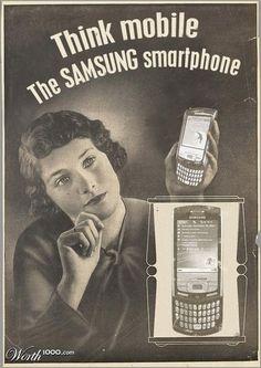 Retro-Werbung für #Facebook, #Twitter, #YouTube & #Skype im 50er-Jahre-Stil + #iPod, #Gameboy, #Samsung & Co.