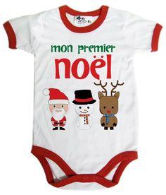 Dirty Fingers, Mon premier Noël, Body bébé la couleur rognage, 12-18m, Blanc, Rouge: Amazon.fr: Vêtements et accessoires