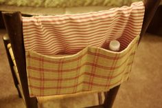 This easy to make walker tote bag is held on with two strips of hook and loop tape (Velcro). It is a fast sewing project, perfect for beginner sewers who want to sew for charity. The tutorial teaches you step by step how to sew a walker bag.