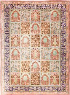 Beautiful Room Size Antique Israeli Bezalel Rug 48947
