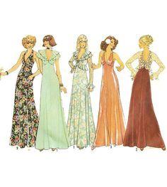 1970s Sexy Halterneck Disco Dress Pattern by willynillyart on Etsy
