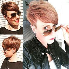 Love Your Hair, Cut My Hair, Pixie Hairstyles, Cute Hairstyles, Pixie Styles, Short Hair Styles, Cute Pixie Cuts, Layered Bobs, Chubby Cheeks