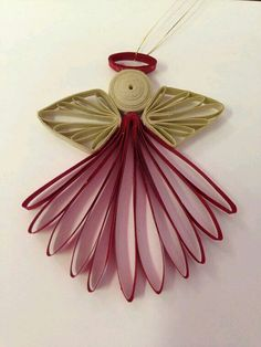 Small Quilled Angel Ornament by joanscrafts on Ets - Best Paper Quilling Designs Toilet Paper Roll Art, Rolled Paper Art, Toilet Paper Roll Crafts, Paper Quilling Designs, Quilling Paper Craft, Quilling Patterns, Neli Quilling, Quilling Images, Quilling Christmas