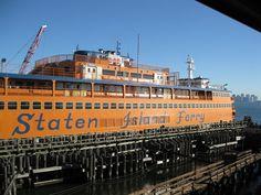Staten Island Ferry docked in Staten Island, NY