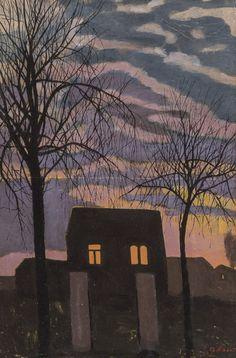 Maison au crépuscule (House at Dusk) by Léon Spilliaert on Curiator – http://crtr.co/1x9g