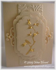 handmade cards using spellbinder homespun | same Cuttlebug Embossing folder as in the previous card. Spellbinders ...