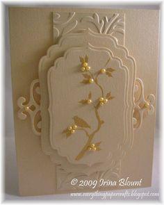handmade cards using spellbinder homespun | same Cuttlebug Embossing folder as in the previous card. Spellbinders ...