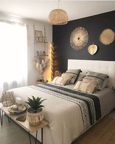 Hello there Such an attractive bedroom by in terms of colors and in terms of styling Have a lovely. Room Ideas Bedroom, Dream Bedroom, Home Decor Bedroom, Adult Bedroom Ideas, Master Bedroom, Budget Home Decorating, Decorating Bathrooms, Foyer Decorating, Decorating Ideas