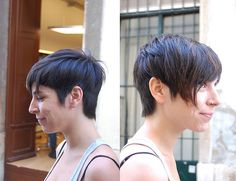 """I would like this if the hair at the nape of the neck was just a tad bit shorter. Still, I'm digging the playful androgyny of this girl… todayifound:  oohh I want this haircut!! >_<"""" short dark haircut (via wip-hairport)"""
