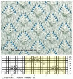 ajour / lace knitting : spring pattern 2016 ajour / lace knitting … – Awesome Knitting Ideas and Newest Knitting Models Lace Knitting Stitches, Lace Knitting Patterns, Knitting Charts, Lace Patterns, Easy Knitting, Stitch Patterns, Knitting Machine, Knitting Videos, Sewing Basics