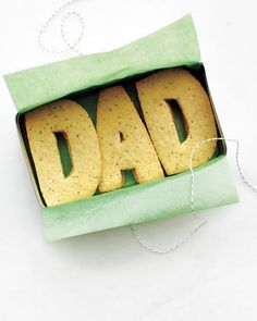 Don't underestimate Dad's sweet tooth. These simple DAD sugar cookies are sure to do the trick.