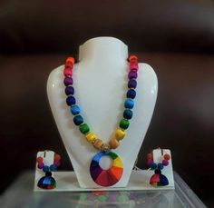 Note: This is a made-to-order product and will be shipped within 7 to 10 days from the order date. Silk Thread Necklace, Beaded Necklace Patterns, Thread Jewellery, Jewelry Patterns, Beaded Jewelry, Handmade Jewelry, Diy Jewellery, Jewelry Ideas, Jewelry Necklaces