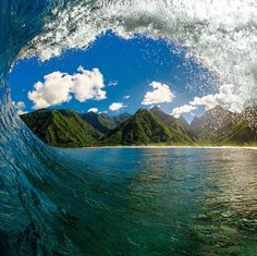 Clark Little Photography: This Man Shows The World What  Enormous Waves Look Like From The Inside Out