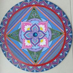 Mandala meditação em turquesa, 50cm by Soraya Sebolt.