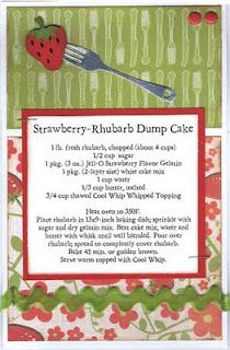 Strawberry-Rhubarb Dump Cake