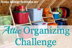 I may go out of order...How to organize your attic, with step by step instructions {part of the 52 Week Organized Home Challenge on Home Storage Solutions 101}