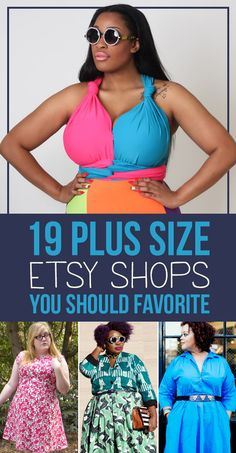19 plus-size Etsy shops to bookmark immediately. Your shopping cart overfloweth.