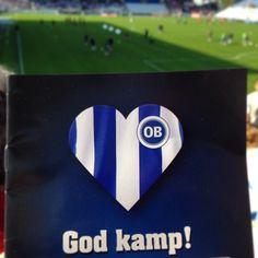 Vi er ude og støtte @odenseboldklub og med hjertet på det rette sted bliver det en god kamp. #ob #godkamp Odense, Picnic, Instagram Posts, Picnics, Picnic Foods