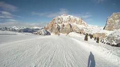 Lagazuoi (Dolomites) - ski-run to Armentarola, most beautiful slope! (filmed on GoPro HD Hero)