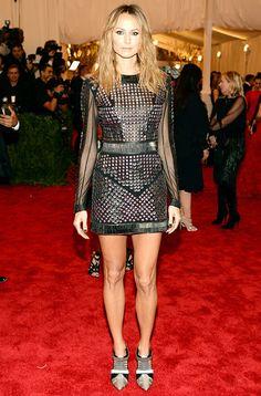 Stacy Keiler Met Gala 2013 stunning The dress: Studded Rachel Roy dress  The bling: Jacob & Co.