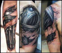 terminator versus cyborg superman | Elképesztő cyborg tetoválások - Nemkutya