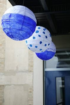 How To Make Dip-Dyed & Painted Paper Lanterns