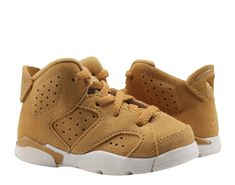 66d04695e92cb8 Nike Air Jordan 6 Retro BT Golden Harvest Wheat Toddler Kids Shoes 384667-705