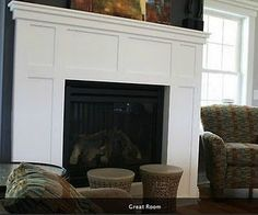 shiplap fireplace surround | The Shiplap trim on the fireplace ...