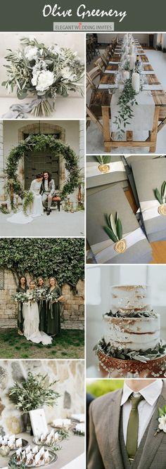 Olivgrüne stimmungsvolle Hochzeitsfarbe palete ideas
