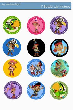 More in my blog ! Folie du Jour Bottle Cap Images: Jack and the Neverland Pirates free bottle cap images