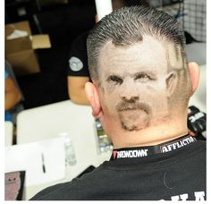 UFC hair cut! Crazy cool