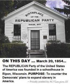 Southern Dems who opposed civil rights switched to the Republican party. Gun rights, conservative, prochoice, and deregulation voters overwhelmed the party, creating what we have today. Republican Party History, Independance Day, Political Quotes, Conservative Politics, God Bless America, Democratic Party, History Facts, American History, Wisconsin