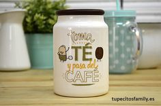 Bote para los amantes del té y pasotas del café. #tupecitos #tupecitosfamily