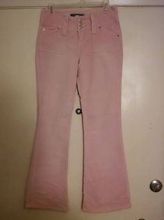 MOSSIMO Stretch Corduroy Pants Pale Blue Mid Rise Slight Flare ...