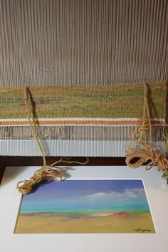 weaving from a painting — Susan Fuquay