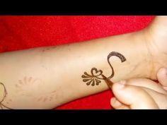 'S' Letter Henna Tattoo Design || Alphabet R Mehndi Design Easy Simple #mehendi - YouTube