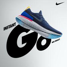sale retailer 04ecc 0d2ec Chaussures de Running Nike Epic React Flyknit Bleu Femme