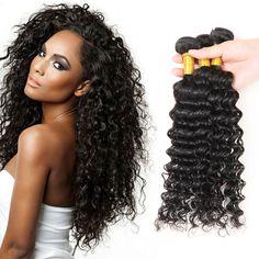 3 Bundles 150g Virgin 100% Brazilian Kinky Curly Hair Weave Human Hair Extension…
