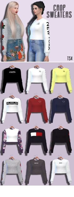 Crop Sweaters Female Teen - Young - Adult - Elder HQ Mod compatible Download the mesh too Retextured by me DOWNLOAD! (Sim File Share) DOWNLOAD! (Mediafire)