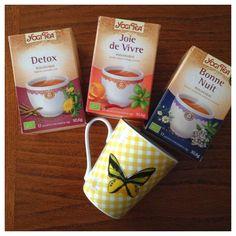 Papillons d'Onyx: [Revue] Découverte de la marque Yogi Tea à travers... Yogi, Biologique, Tableware, Papillons, Dinnerware, Tablewares, Dishes, Place Settings