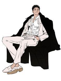 Hot Anime Boy, Cute Anime Guys, Manga Art, Anime Art, Illustrator, Handsome Anime Guys, Anime Poses, Art Poses, Art Reference Poses