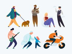 Curvy People Illustrations update designed by Ramy Wafaa. Connect with them on Dribbble; Flat Illustration, Character Illustration, Plate, Advertising Photography, Branding, Cartoon Drawings, People Illustrations, Vector Art, Character Design