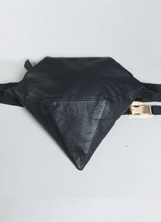 Diamond Bum Bag in black Lamb Nappa with gold plated buckle and soft suede-cotton lining. Magnetic gusset and adjustable strap. Leather Gifts, Leather Bag, Cool Fanny Packs, Hip Purse, Soft Suede, Bag Accessories, Purses And Bags, Bum Bags, Music Festivals