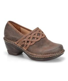 Another great find on #zulily! Coffee Lennox Leather Clog #zulilyfinds
