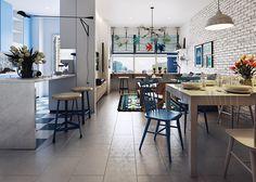 Scandinavian Apartment!! on Behance